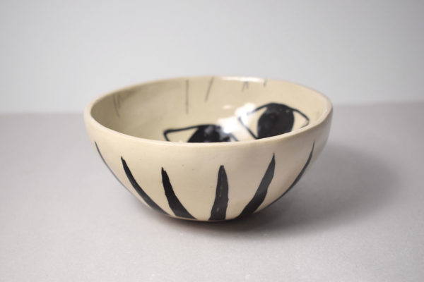 Decorated ceramic pinch pot bowl