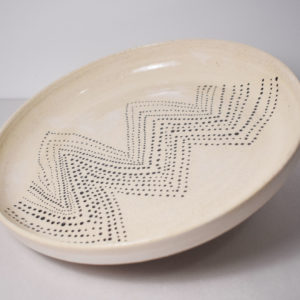 Ceramic plate with decorations
