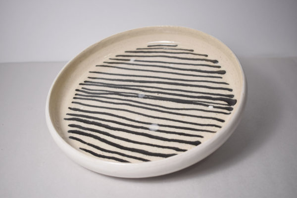 Handmade ceramic lunch plate