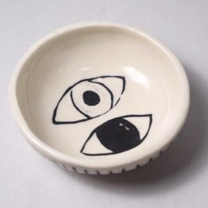 Decorated ceramic bowl