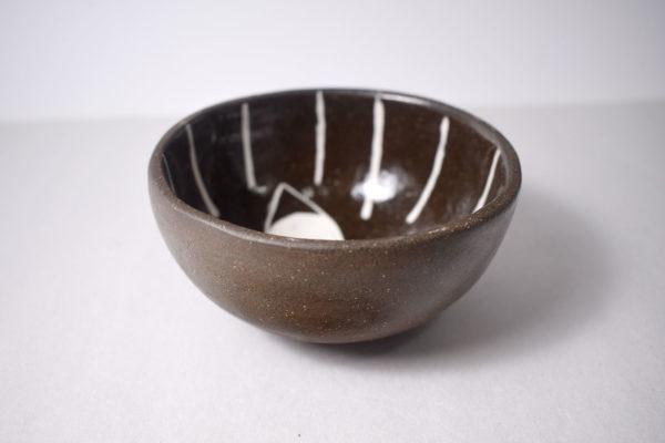 Decorated ceramic pinch pot