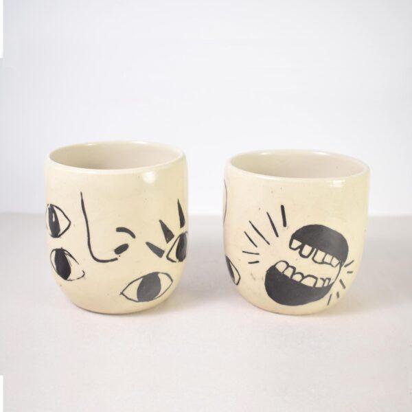 Two ceramic cups
