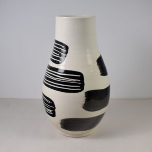 Porcelain vase with black decoration